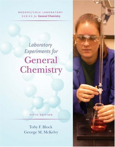Lab Experiments for General Chemistry  5th 2006 (Revised) 9780534424480 Front Cover