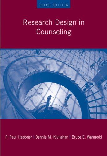 Research Design in Counseling  3rd 2008 (Revised) 9780534523480 Front Cover