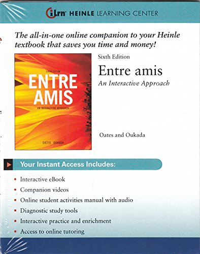ENTRE AMIS-ACCESS                       N/A 9781111945480 Front Cover
