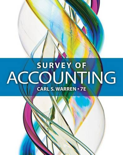 Survey of Accounting:   2014 9781285183480 Front Cover