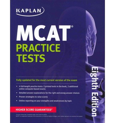 Kaplan MCAT Practice Tests  8th (Revised) edition cover