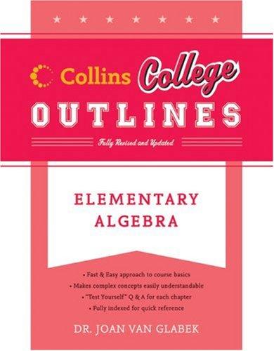 Elementary Algebra  2nd 2006 edition cover