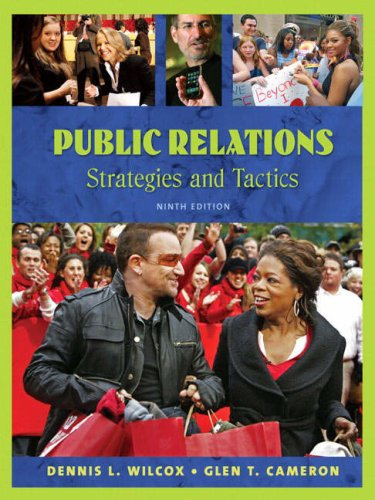 Public Relations Strategies and Tactics 9th 2009 edition cover