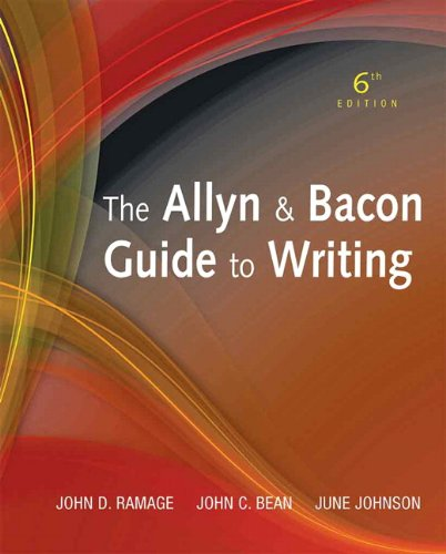 Allyn and Bacon Guide to Writing  6th 2012 edition cover