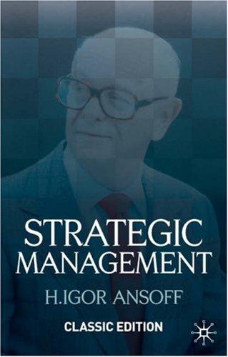 Strategic Management   2007 edition cover
