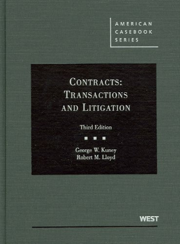 Contracts Transactions and Litigation 3rd 2011 (Revised) edition cover
