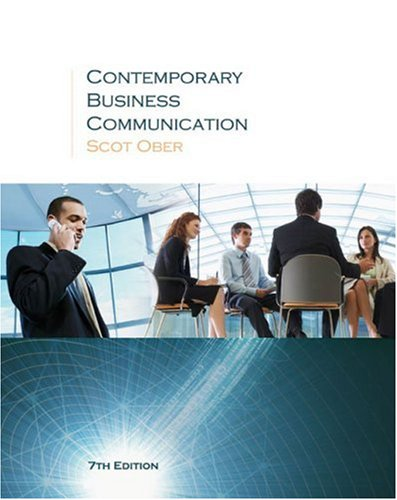 Contemporary Business Communication  7th 2009 edition cover
