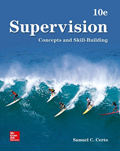Supervision: Concepts & Skill-building  2018 9781260141481 Front Cover