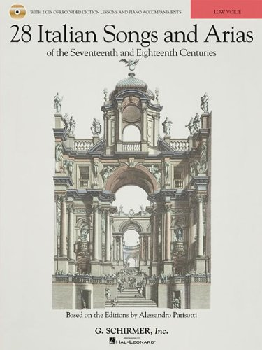 28 Italian Songs and Arias of the Seventeenth and Eighteenth Centuries  N/A edition cover