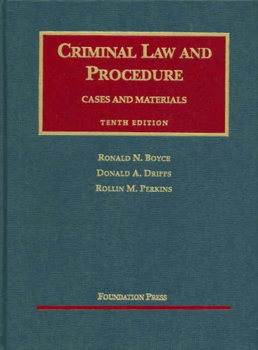 Criminal Law and Procedure  10th 2007 (Revised) edition cover