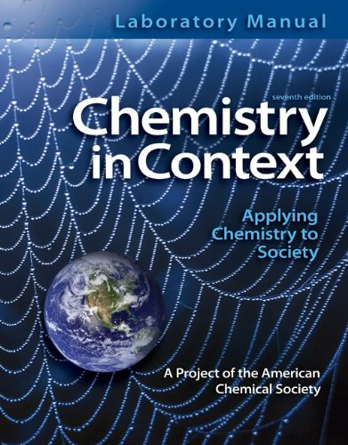 Laboratory Manual Chemistry in Context  7th 2012 edition cover