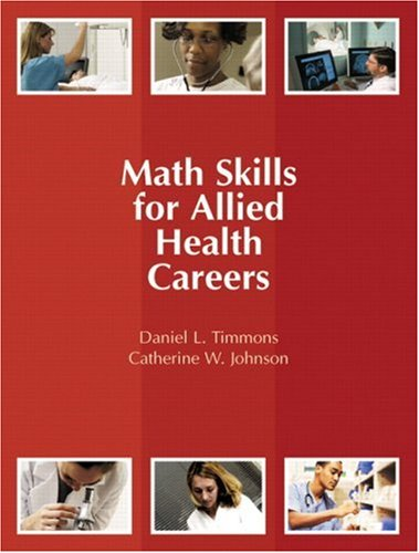 Math Skills for Allied Health Careers   2008 edition cover