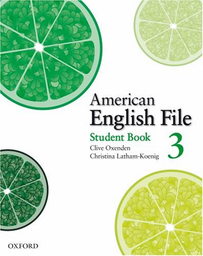 American English File  Student Manual, Study Guide, etc. edition cover