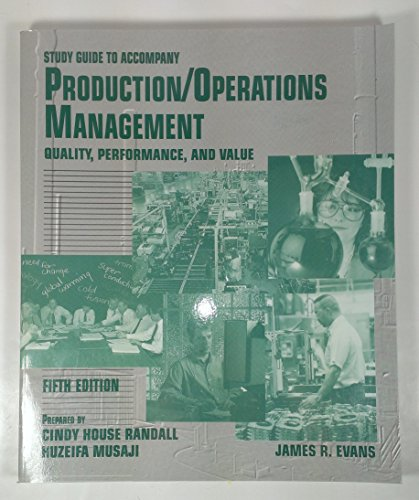 Production and Operations Management 5th 1997 9780314062482 Front Cover