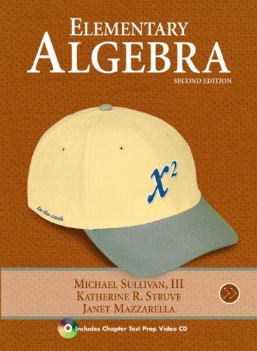 Elementary Algebra  2nd 2010 edition cover