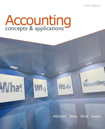 Accounting Concepts and Applications 11th 2010 edition cover