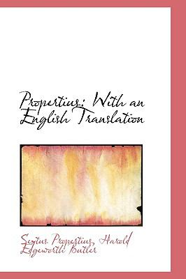 Propertius : With an English Translation  2009 edition cover