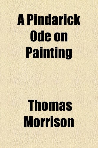 Pindarick Ode on Painting  2010 edition cover