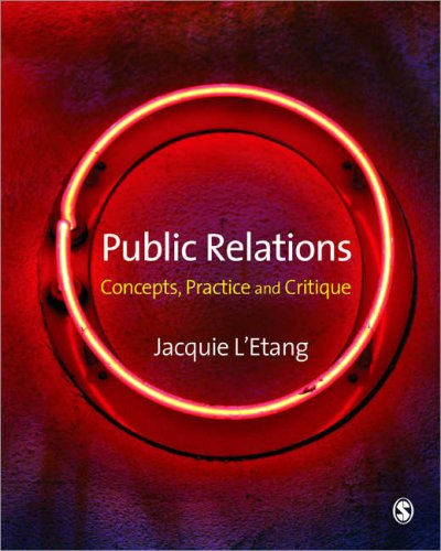 Public Relations Concepts, Practice and Critique  2008 edition cover