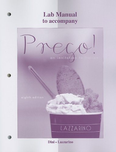 Prego! An Invitation to Italian 8th 2012 edition cover