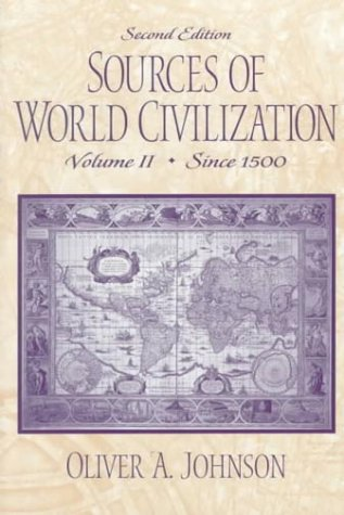 Sources of World Civilization To 1500 2nd 2000 edition cover
