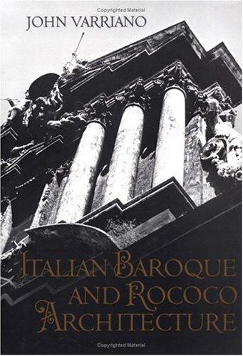 Italian Baroque and Rococo Architecture   1986 edition cover