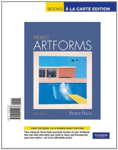 Prebles' Artforms, Books a la Carte Edition  10th 2011 edition cover