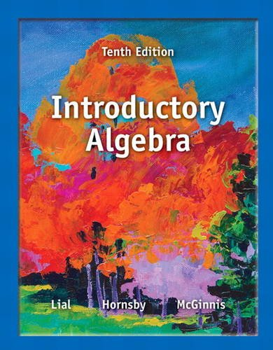 Introductory Algebra  10th 2014 edition cover