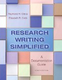 Research Writing Simplified: A Documentation Guide  2014 9780321953483 Front Cover