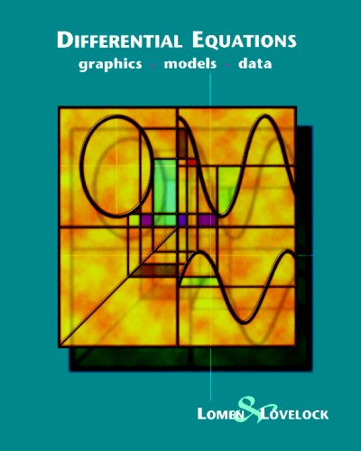 Differential Equations Graphics, Models, Data  1999 9780471076483 Front Cover