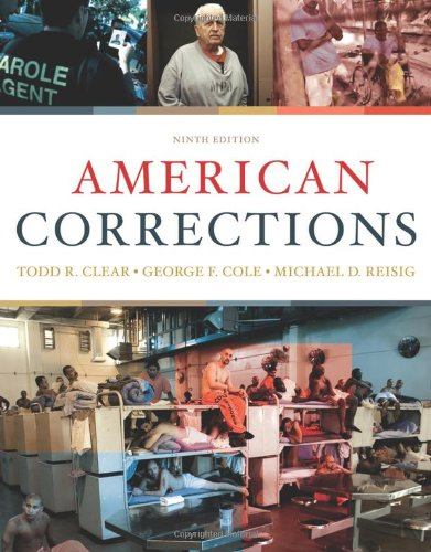 American Corrections  9th 2011 edition cover