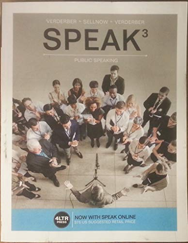 SPEAK   -TEXT                           N/A 9781305659483 Front Cover