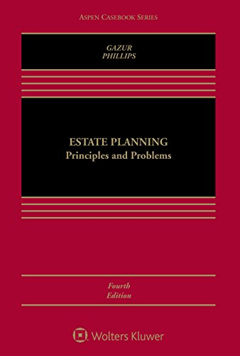 Estate Planning Principles and Problems 4e W/ Cd 4th 2015 edition cover