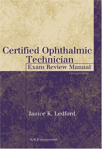 Certified Ophthalmic Technician Exam Review Manual  2nd 2003 edition cover
