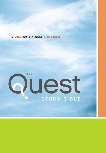 Niv Quest Study Bible The Question and Answer Bible  2011 (Special) edition cover