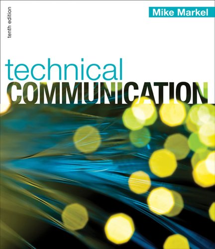 Technical Communication  10th 2012 9780312679484 Front Cover