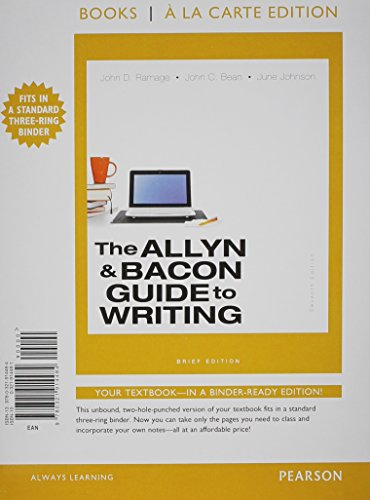The Allyn & Bacon Guide to Writing:   2014 9780321914484 Front Cover