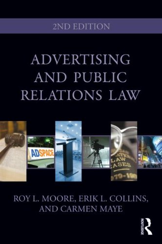 Advertising and Public Relations Law  2nd 2011 (Revised) edition cover