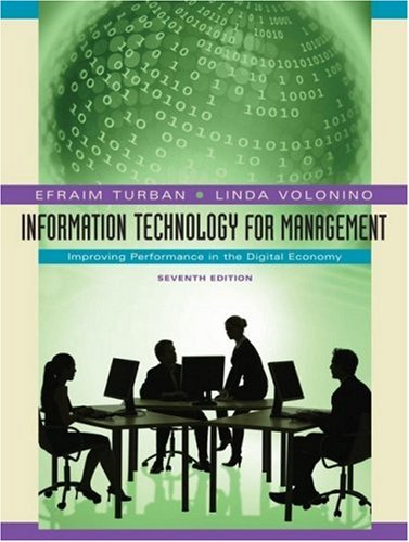 Information Technology for Management Improving Performance in the Digital Economy 7th 2010 edition cover