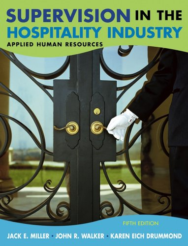 Supervision in the Hospitality Industry Applied Human Resources 5th 2007 (Revised) edition cover