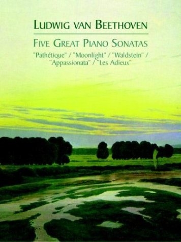 Five Great Piano Sonatas  N/A edition cover