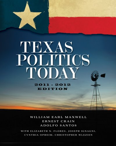 Texas Politics Today 2011-2012  15th 2012 edition cover