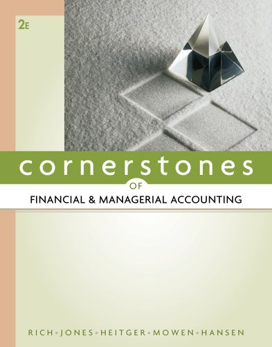 Cornerstones of Financial and Managerial Accounting  2nd 2012 edition cover