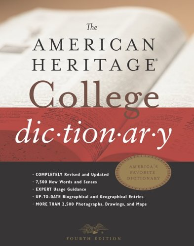 American Heritage College Dictionary  4th 2002 edition cover