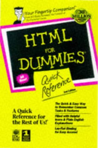 HTML for Dummies Quick Reference  2nd 1997 9780764502484 Front Cover