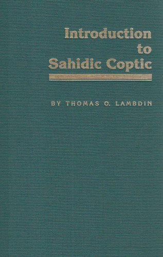 Introduction to Sahidic Coptic A New Coptic Grammar N/A edition cover