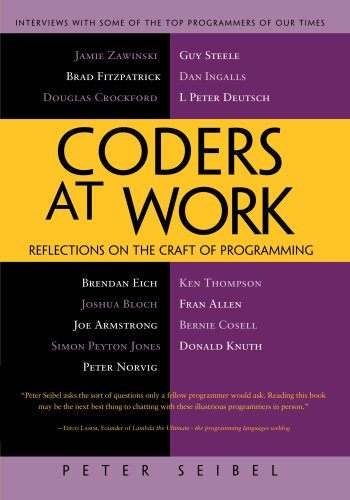 Coders at Work Reflections on the Craft of Programming  2009 edition cover