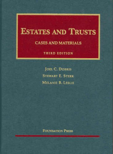 Estates and Trusts  3rd 2007 (Revised) edition cover