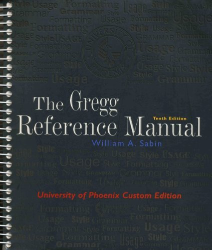 Gregg Reference Manual A Manual of Style, Grammar, Usage, and Formatting N/A edition cover