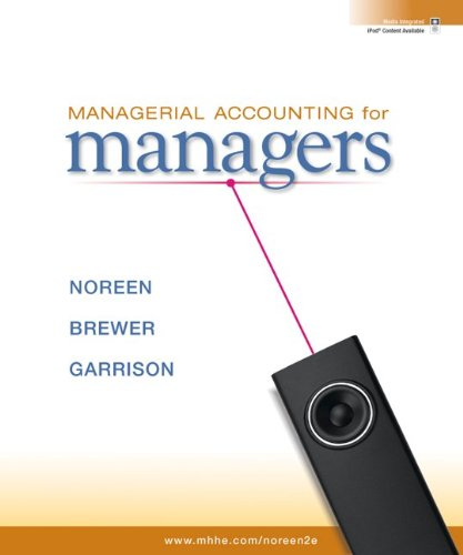 Managerial Accounting for Managers with Connect Plus  2nd 2011 edition cover